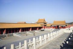 Ιστορικό κτήριο στην απαγορευμένη πόλη, Πεκίνο, Κίνα Στοκ εικόνα με δικαίωμα ελεύθερης χρήσης