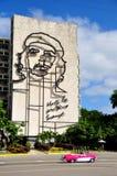 Ιστορικό κτήριο στην Κούβα με την εικόνα από Che Guevara Στοκ εικόνες με δικαίωμα ελεύθερης χρήσης