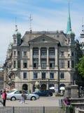 Ιστορικό κτήριο στη Ζυρίχη, Ελβετία Στοκ φωτογραφία με δικαίωμα ελεύθερης χρήσης