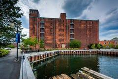 Ιστορικό κτήριο στο εθνικό ιστορικό πάρκο της Βοστώνης, στο Charles Στοκ φωτογραφία με δικαίωμα ελεύθερης χρήσης