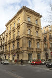 Ιστορικό κτήριο στο ιστορικό κέντρο της Κατάνια, Σικελία Ιταλία Στοκ Εικόνα
