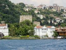Ιστορικό κτήριο της Ιστανμπούλ Bosphorus Στοκ φωτογραφία με δικαίωμα ελεύθερης χρήσης
