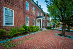 Ιστορικό κτήριο τούβλου σε στο κέντρο της πόλης Annapolis, Μέρυλαντ Στοκ φωτογραφία με δικαίωμα ελεύθερης χρήσης