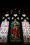 Ιστορικό λεκιασμένο εκκλησία παράθυρο γυαλιού στοκ φωτογραφία με δικαίωμα ελεύθερης χρήσης