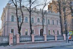 Ιστορικό μέγαρο στην οδό Bolshaya Nikitskaya στη Μόσχα Στοκ Εικόνες