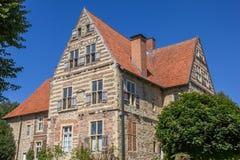Ιστορικό μέγαρο Merveldter hof στο χωριό Horstmar Στοκ Φωτογραφία