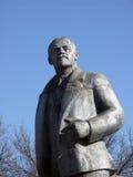 Ιστορικό μνημείο μετάλλων Λένιν στην προοπτική σε μικρό Russi Στοκ Εικόνες