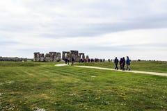 Ιστορικό μνημείο Stonehenge, Αγγλία, Μεγάλη Βρετανία Στοκ Φωτογραφία