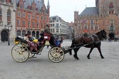 Ιστορικό Μπρυζ, Βέλγιο Στοκ Εικόνες