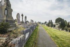 Ιστορικό νεκροταφείο στη νότια Ουαλία, UK στοκ εικόνες
