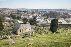 Ιστορικό νεκροταφείο στη νότια Ουαλία, UK στοκ φωτογραφία με δικαίωμα ελεύθερης χρήσης