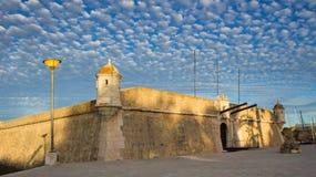 Ιστορικό οχυρό Ponta DA Bandeira της πόλης του Λάγκος, Αλγκάρβε, Portug στοκ εικόνα με δικαίωμα ελεύθερης χρήσης