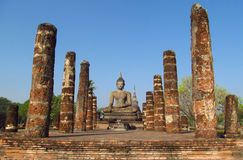 Ιστορικό πάρκο Sukhothai αγαλμάτων του Βούδα στην Ταϊλάνδη Στοκ εικόνα με δικαίωμα ελεύθερης χρήσης