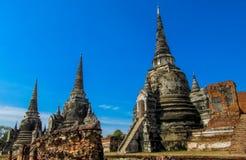 Ιστορικό πάρκο Wat Phra Sri Sanphet Si Ayutthaya Nakhon Phra Στοκ φωτογραφία με δικαίωμα ελεύθερης χρήσης