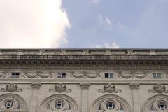 Ιστορικό, παλαιό κτήριο 19ου αιώνα άποψης τον τελευταίο καιρό στοκ εικόνες
