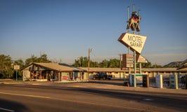 Ιστορικό σαφάρι μοτέλ στη διαδρομή 66 σε Tucumcari, Νέο Μεξικό Στοκ Εικόνες
