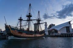 Ιστορικό σκάφος αντιγράφου προσπάθειας HMB στην αγάπη Harbbour Στοκ Εικόνα