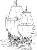 ιστορικό σκάφος Στοκ Φωτογραφίες