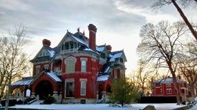 Ιστορικό σπίτι σε Atchison Κάνσας στοκ εικόνα με δικαίωμα ελεύθερης χρήσης