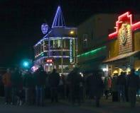 Ιστορικό στο κέντρο της πόλης Flagstaff, Αριζόνα, Παραμονή Πρωτοχρονιάς στοκ εικόνες