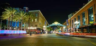 Ιστορικό τέταρτο Gaslamp στο Σαν Ντιέγκο στοκ εικόνα