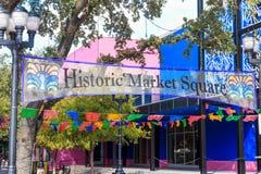 Ιστορικό τετράγωνο αγοράς του San Antonio Στοκ φωτογραφίες με δικαίωμα ελεύθερης χρήσης