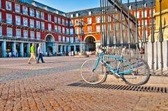 Ιστορικό τετράγωνο δημάρχου Plaza στη Μαδρίτη, Ισπανία Στοκ Εικόνες