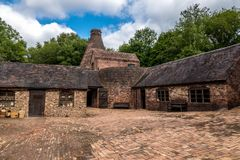 Ιστορικό τούβλο που κάνει το εργοστάσιο στο Shropshire, Αγγλία στοκ εικόνες