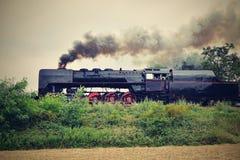 ιστορικό τραίνο ατμού Ειδικά προωθημένα τσεχικά παλαιά ταξίδια τραίνων ατμού και για το ταξίδι γύρω από τη Δημοκρατία της Τσεχίας Στοκ Εικόνα