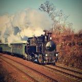 ιστορικό τραίνο ατμού Ειδικά προωθημένο τσεχικό παλαιό τραίνο ατμού για τα ταξίδια και για το ταξίδι γύρω από τη Δημοκρατία της Τ Στοκ Εικόνες