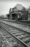ιστορικό τραίνο σταθμών Στοκ Εικόνα