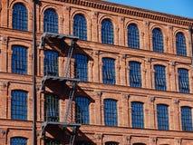 Ιστορικό ύφος οικοδόμησης εργοστασίων Στοκ Εικόνες