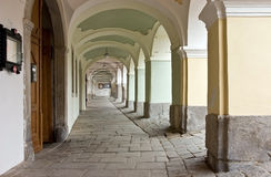 Ιστορικό Arcade στην Πράγα (Δημοκρατία της Τσεχίας) Στοκ Φωτογραφία