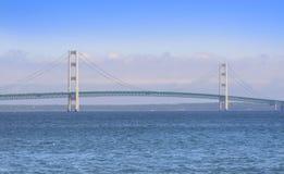ιστορικό mackinac γεφυρών Στοκ Εικόνες