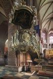 Ιστορικό pulpit στη βασιλική Archcathedral του ST Peter και του ST Paul στο Πόζναν Στοκ εικόνα με δικαίωμα ελεύθερης χρήσης