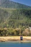 Ιστορικό pumphouse του προηγούμενου ορυχείου Treadwell Νησί Ντάγκλας, Juneau, Αλάσκα στοκ εικόνα με δικαίωμα ελεύθερης χρήσης