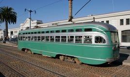 ιστορικό SAN τραμ Francisco Στοκ Φωτογραφία
