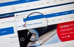 Ιστοσελίδας της καναδικής τράπεζας BMO Στοκ Εικόνες