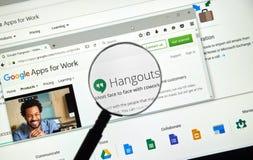 Ιστοσελίδας πολυσύχναστων μερών Google Στοκ εικόνα με δικαίωμα ελεύθερης χρήσης