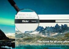 Ιστοσελίδας Flickr Στοκ Εικόνες