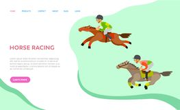Ιστοχώρος ιπποδρόμου με το κείμενο, ίππειος αθλητισμός απεικόνιση αποθεμάτων