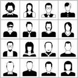 ιστοχώρος Ιστού προγράμματος παρουσίασης ανθρώπων Διαδικτύου εικονιδίων εφαρμογής σας Στοκ Εικόνες