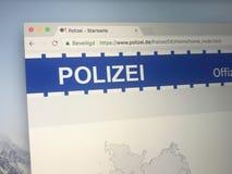 Ιστοχώρος της γερμανικής αστυνομίας Στοκ φωτογραφίες με δικαίωμα ελεύθερης χρήσης