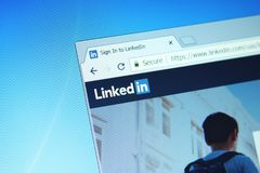 Ιστοχώρος LinkedIn στοκ εικόνες με δικαίωμα ελεύθερης χρήσης
