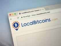 Ιστοχώρος LocalBitcoins στοκ φωτογραφία
