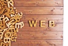Ιστός λέξης που γίνεται με τις ξύλινες επιστολές Στοκ εικόνες με δικαίωμα ελεύθερης χρήσης
