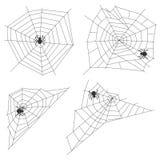 Ιστός αραχνών με μια αράχνη διανυσματική απεικόνιση