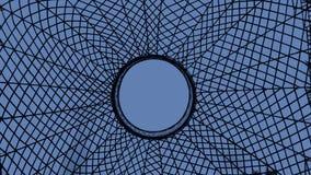 Ιστός αραχνών στο μπλε Στοκ εικόνες με δικαίωμα ελεύθερης χρήσης