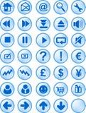Ιστός Διαδικτύου κουμπιών Στοκ Φωτογραφία