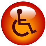 Ιστός εικονιδίων αναπηρία& ελεύθερη απεικόνιση δικαιώματος